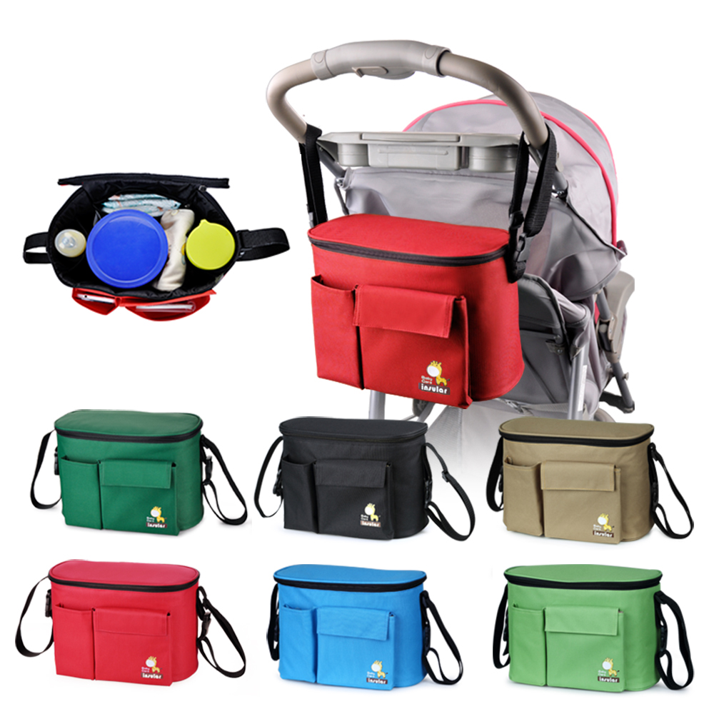цена на Insulation Baby Stroller Bag Baby Carriage Food Cup Bag Pram Buggy Cart Bottle Bags Stroller Organizer Accessories