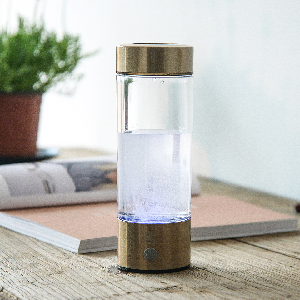 High Quality Hydrogen Water Bottle H2 Rich Health Alkaline Water Ionizer 400ML Brand Hydrogen Water Generator USB Charge WAC007