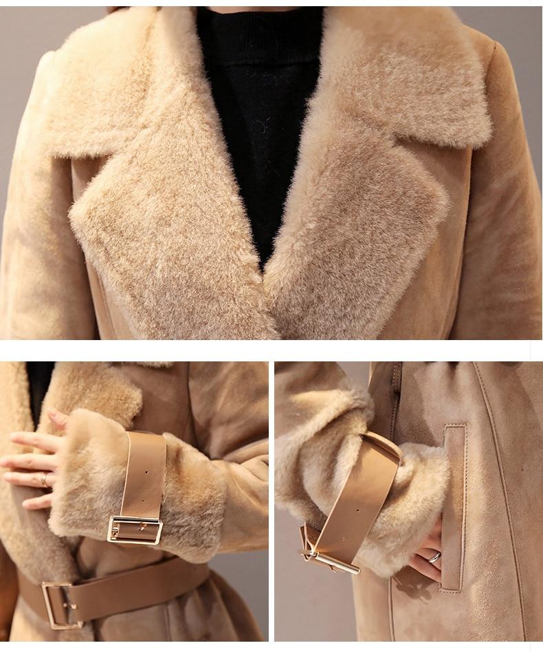 Femmes Moyen Nouvelle Laine Longueur Drap vent Survêtement De Coupe Khaki Fourrure Hiver Manteaux Vestes Automne Boutique Col 5qXpPwzS