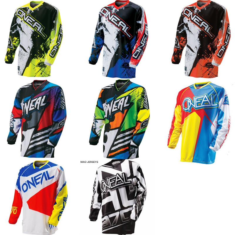 2018 Summer Downhill Riding Breathable Motocross Jersey Long Sleeve Shirt Mountain Clothing for Men Offroad Downhill MX AM DH