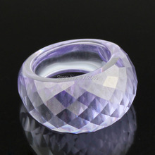 Fashion luxury Jewelry cut crystal Ring High quality purple Crystal rings oval design woman ring