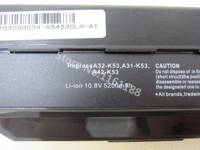Аккумулятор ДЛЯ ASUS A42-K53 A32-K53 A43 A53 A54 A83 K43 K53 P43 P53 X43 X44 X53 X54 X84 PRO5N PRO8G PRO8Q PRO5P PRO4J