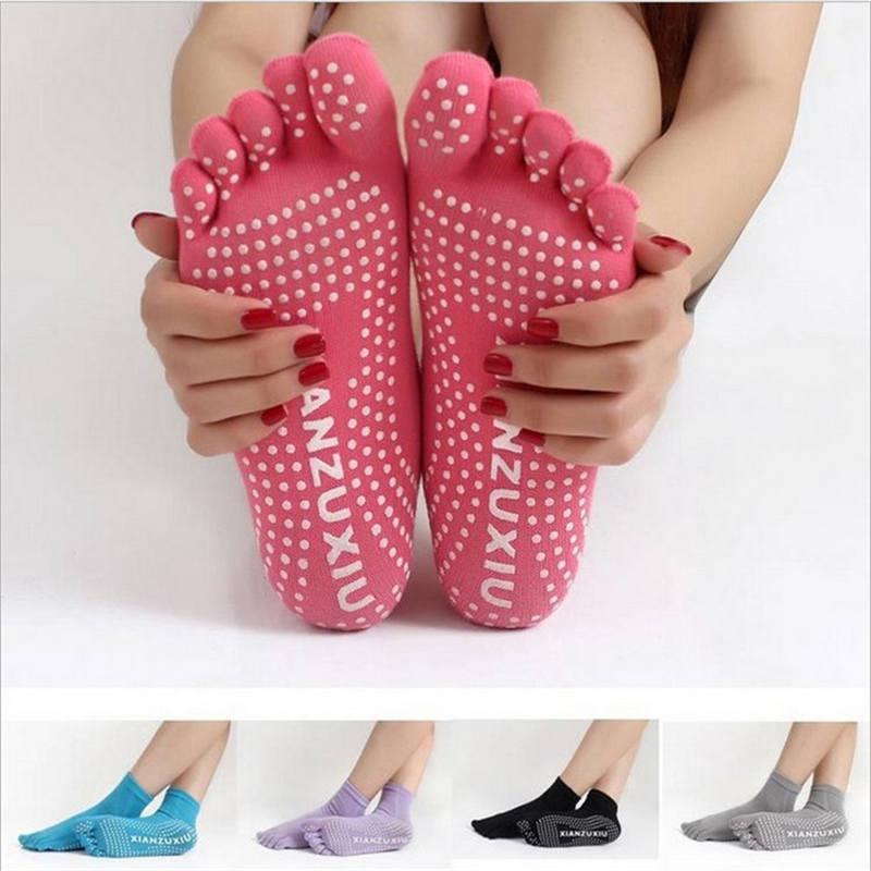 2020 Women Socks Pilates Sock Warm Cute Dance Socks With Five Fingers Sokken Toe