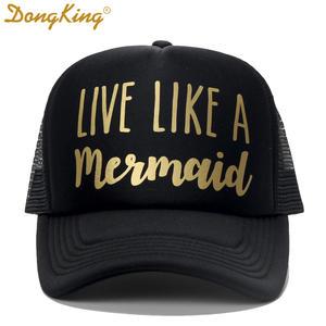 f3e1c698e0e45c DongKing Trucker Hat Printed Sun Cap Love Gift Top Snapback