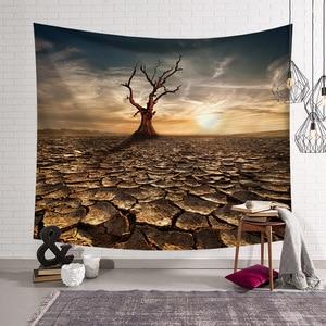 Image 5 - CAMMITEVER Natural Scenic Trees Bridge Tapestry Wall Hanging Landscape Wall Tapestries Mandala Bohemian Throw