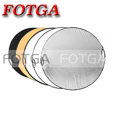 Free shipping 5 in 1 110cm 43″ Portable Collapsible Light Round Photography Reflector for Studio Multi Photo Disc