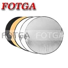"""Envío gratis 5 en 1 110 cm 43 """" portátil plegable ronda luz fotografía Reflector para estudio de fotos del disco"""