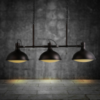 Home Retro rustic Style iron black three arms bar hanging modern metal industrial loft pendant vintage