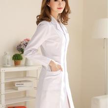 Массажные тапочки, домашняя обувь для женщин Халат медицинский лабораторный халат белое пальто Одежда для доктора на лето и весну