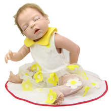 22 Inch Full Silicone Baby Dolls Realistic Reborn Princess Girl Lifelike Newborn Babies That Look Real Kids Birthday Gift