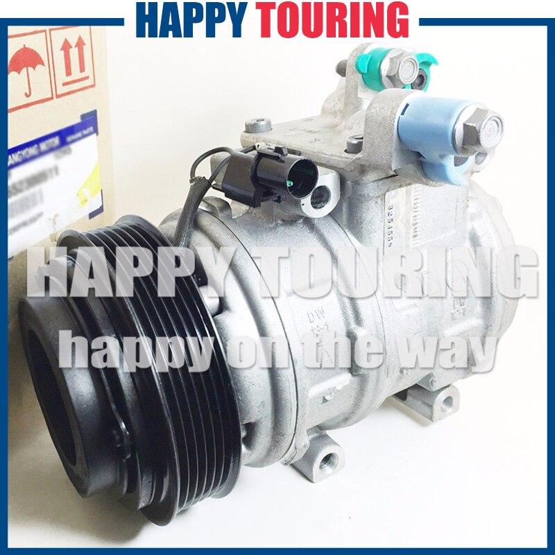 Compresseur de climatisation pour compresseur de voiture pour Ssangyong Actyon/Rexton/Kyron 6652300511 6652300311