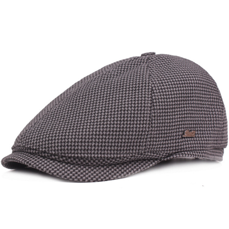 New Classic Berets Hats For Men Women Autumn Winter Plaid Retro Hat Gorras  Planas Boinas Beret Flat Caps Casquette Ajustable-in Berets from Apparel ... c3fa7a6d57