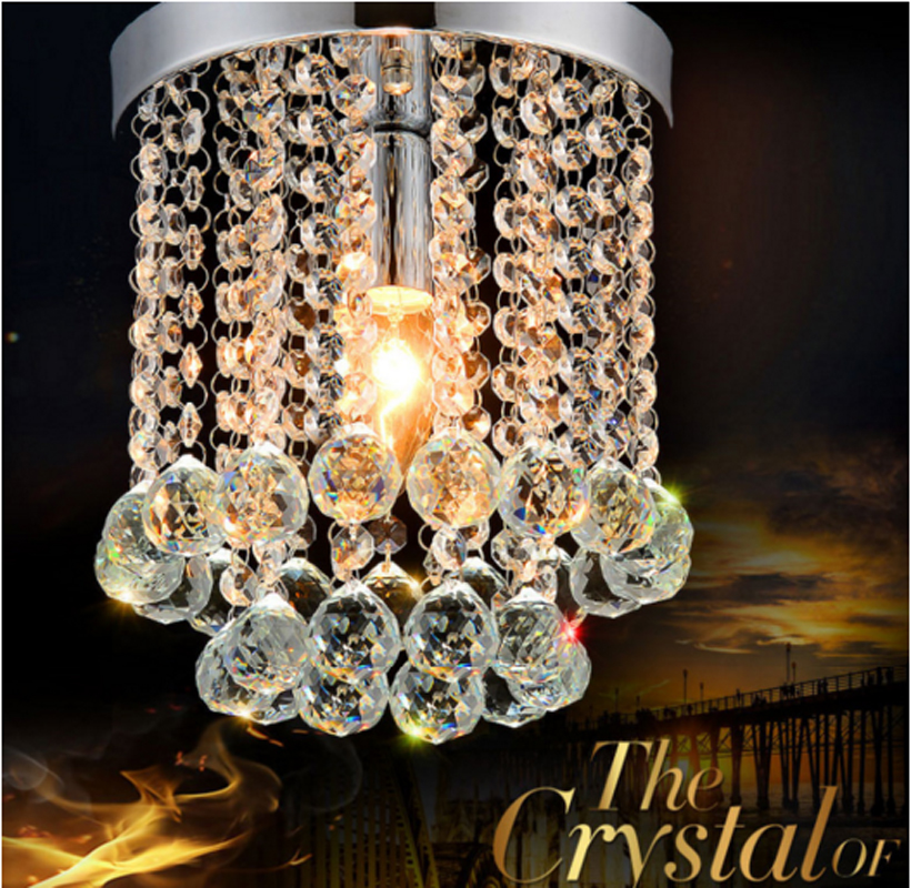 ZYY Mini Chandelier Rain Drop Lighting K9 Crystal Ball LED Lamp Home Lights Fixture Pendant Ceiling Lamp 1 LED E12 Bulb Included fst3125 fst3125mx sop