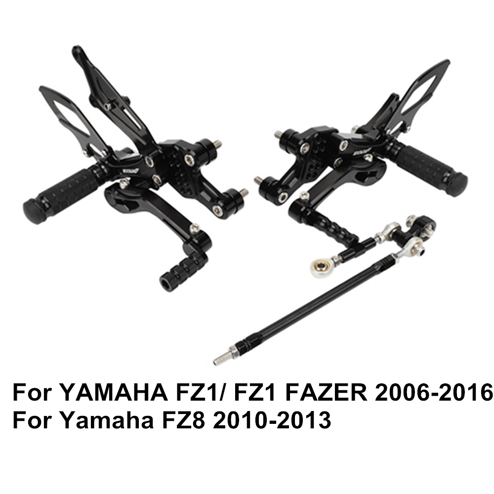 FZ1 Fazer 2006 -2016 FZ8 2010- 2013 Motorcycle Footrests Set Adjustable Foot Rests Pegs Accessories For YamahaFZ1 Fazer 2006 -2016 FZ8 2010- 2013 Motorcycle Footrests Set Adjustable Foot Rests Pegs Accessories For Yamaha