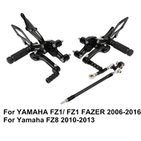 FZ1 Fazer 2006 2016 FZ8 2010 2013 Motorcycle Footrests Set Adjustable Foot Rests Pegs Accessories For Yamaha
