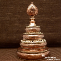 Аутентичные Непал Тибетский ручной работы, медные золоченой резной чай Луо jinmanzhaman нет.