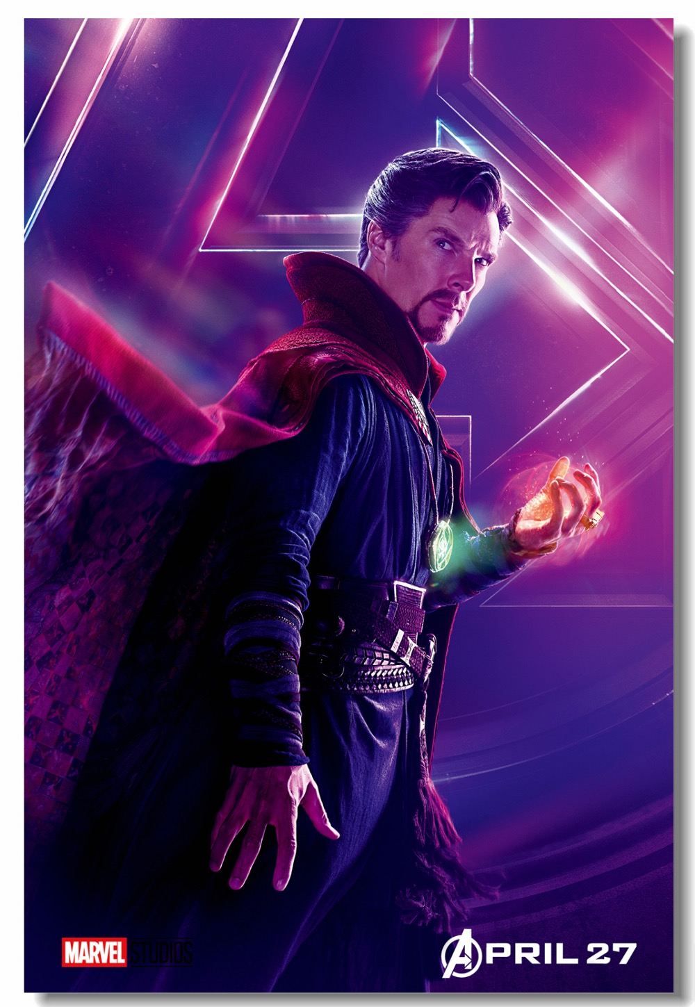 Us 575 28 Offcustom Canvas Wall Decal Marvel Superheroes Doctor Strange Poster Avengers Infinity War Wallpaper Star Lord Sticker Mural 0337 In