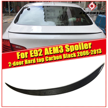 M3 Style Car Styling Carbon Fiber Auto Trunk Rear Spoiler Lip Wing For BMW E92 2-door Hard top 325i 330i Trunk Spoiler 2006-2013 car styling carbon auto rear spoiler trunk wing lips for bmw 5series e46 m3 4 door 2001 2005