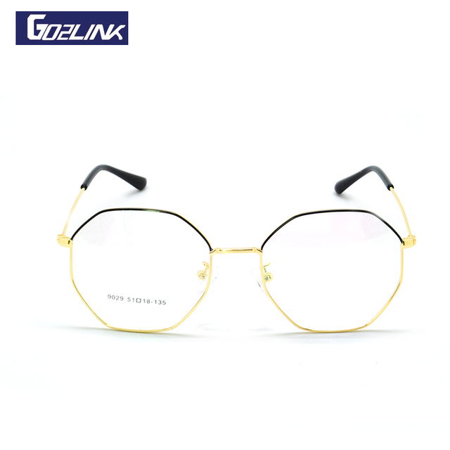 Titanium Alloy Full Rim Eyeglasses Frame Hexagon Shape Fashion Brand ...