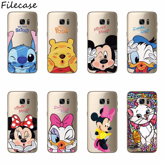 Mickey Minnie Silicone Case For Samsung S8 Plus S6 Edge S7 Edge S3 S4 Mini S5 Note 8 3 4 5 A3 A5 A7 J1 J3 j320 J5 J7 2016 2017