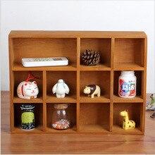 Caja de almacenamiento de madera para decoración del hogar con 11 celosías Vintage Retro estante de madera escaparate de exhibición de pared de madera gabinetes de almacenamiento