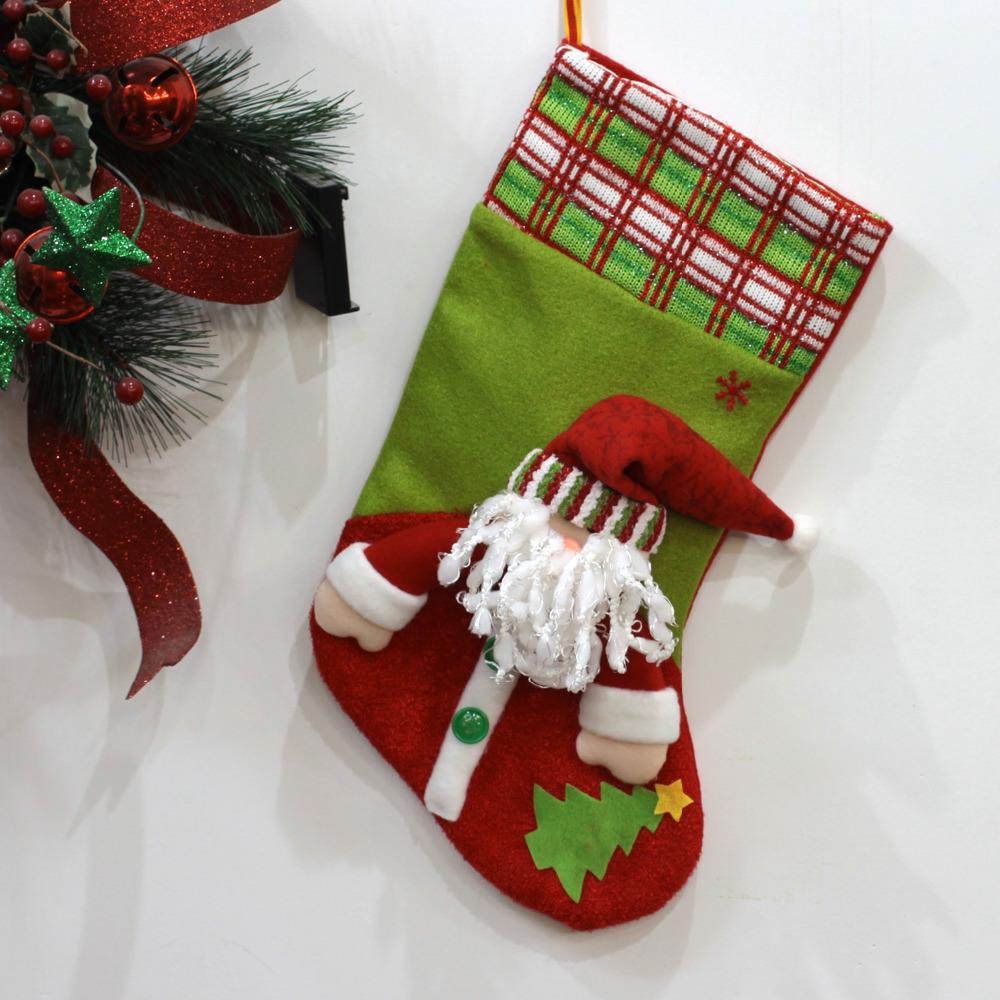 casa impresiones grandes medias de navidad decoracin estacional embroma el regalo bolsa de calcetines santa