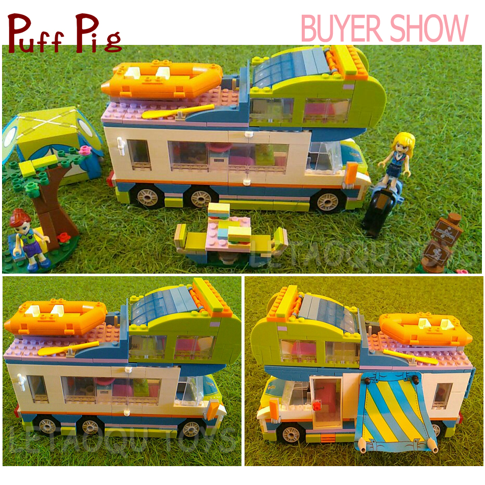 0f18b365f713f3 534PCS Mia s Camper Van The Motorhome Building Blocks Compatible Legoed  Friends House Figures City Bricks Toys For Kids Girls-in Blocks from Toys    Hobbies ...