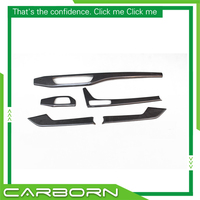 For Audi A5 Sedan 2016 On Add On Style Dry Carbon Fiber Interior Cover Trim 5 Pieces Set Left Hand Drive Only