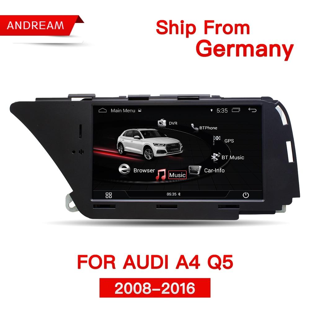 7 Android 4.4 Voiture Multimédia pour AUDI A4 S4 A5 S5 (2008-2016 B8) q5 (2010-2016) Bluetooth gps navigation Wifi