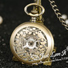 Ancient Men Women Mechanical Pocket Watch Students Nostalgic Carve Patterns Designs Necklace Watch Hollow Out Supe