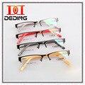 Unisex sem aro Semi armações de óculos de liga Mans mulheres miopia de vidro Homen Mulhere de Metal dos óculos Meia aro da armação D0309