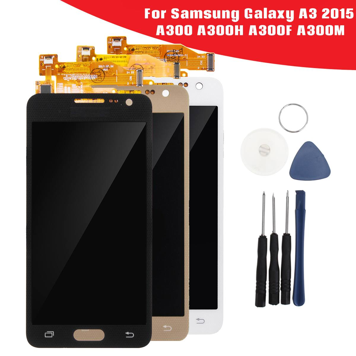 Leory LCD Touching Screen Digitizer Assembly & Repair Tools for Samsung for Galaxy A3 2015 A300 A300H A300F with ToolsLeory LCD Touching Screen Digitizer Assembly & Repair Tools for Samsung for Galaxy A3 2015 A300 A300H A300F with Tools