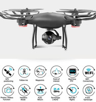 2 4G 4CH RC Drone Quadcopters 2 0MP WIFI FPV 720P HD Adjustable Angle Camera GPS