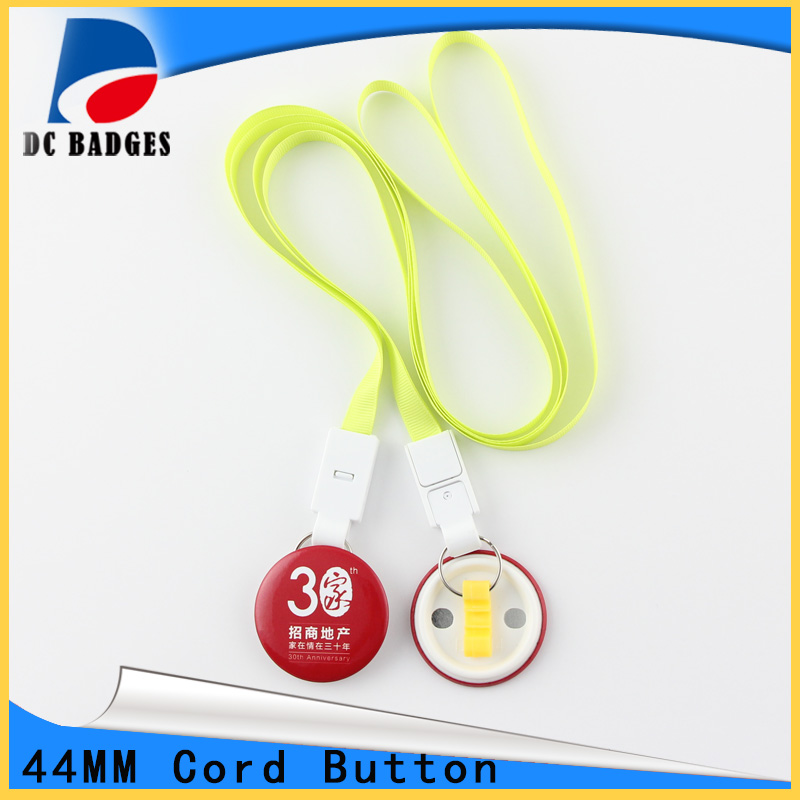 2017 New Products of 44mm 200sets  Pop tie Button badge Material free shipping 44mm 200 sets magnet buttons material