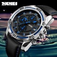 SKMEI Fashion Quartz Men Watches Top Brand Luxury Famous Watch Leather Strap Watches Waterproof Relogio Masculino