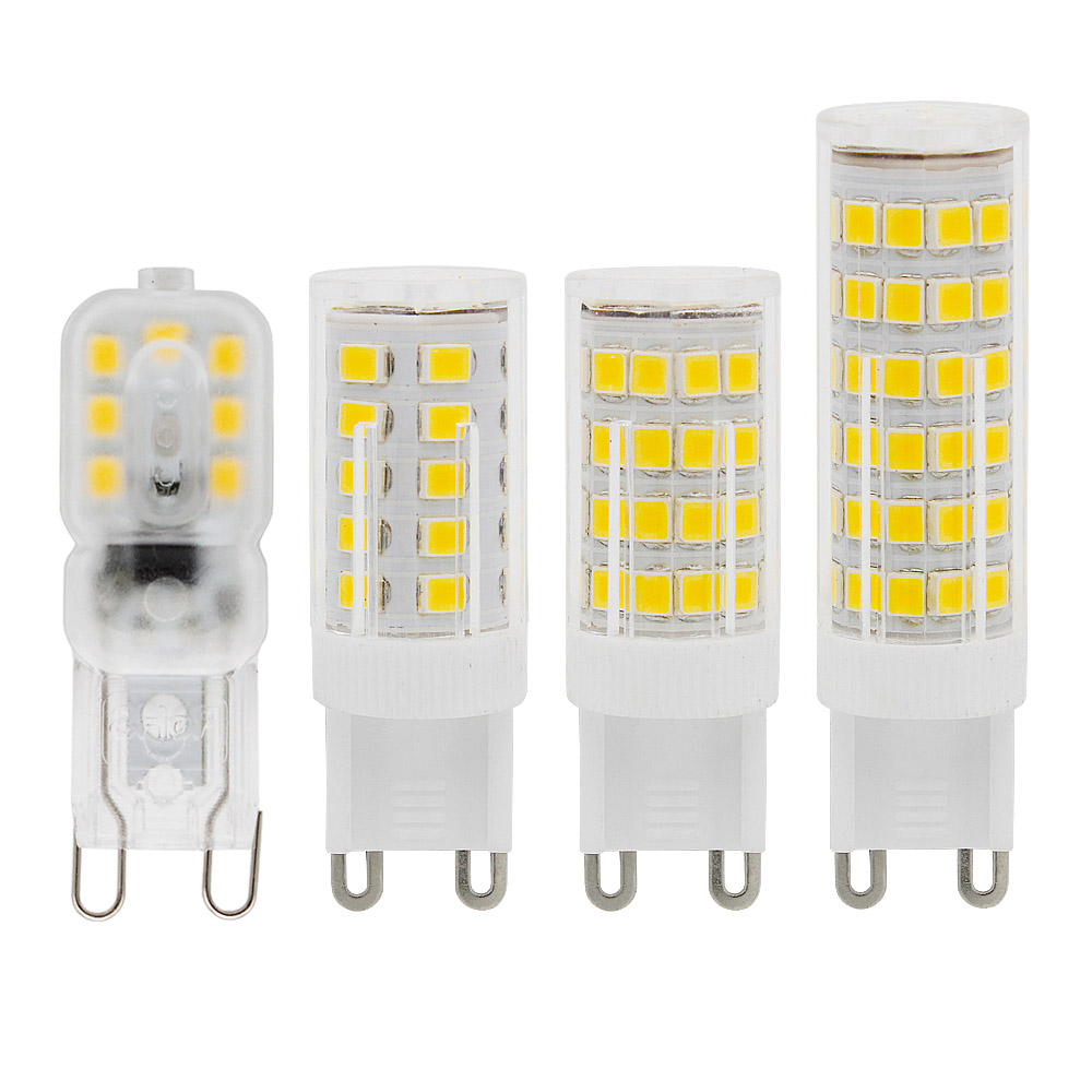 G9 LED Bulb 220V 230V 240V 14LEDs 33LEDs 51LEDs 75LEDs Lamp SMD 2835 LED Light Replace Cfl 6W 9W 12W 15W