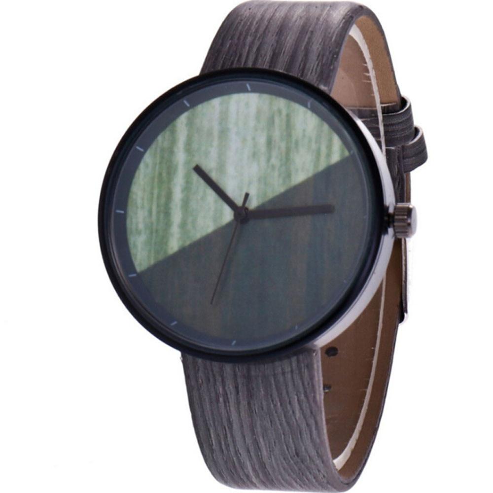 2264f3a06e8 2018 Hot sale Wood Grain Creative Half Color Analog Quartz Wrist ...