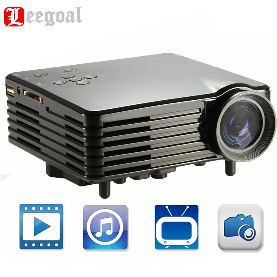 H80 Portable Projector Home Theater Mini LED Digital Projector 100 Lumens Beamer Multimedia Full HD 1080P Video HDMI Cable