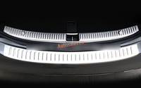 Steel Inner & Outer Rear bumper protector Trunk Step Plate Cover Trim Guard For Mercedes Benz C Class W205 Sedan 2014 2015