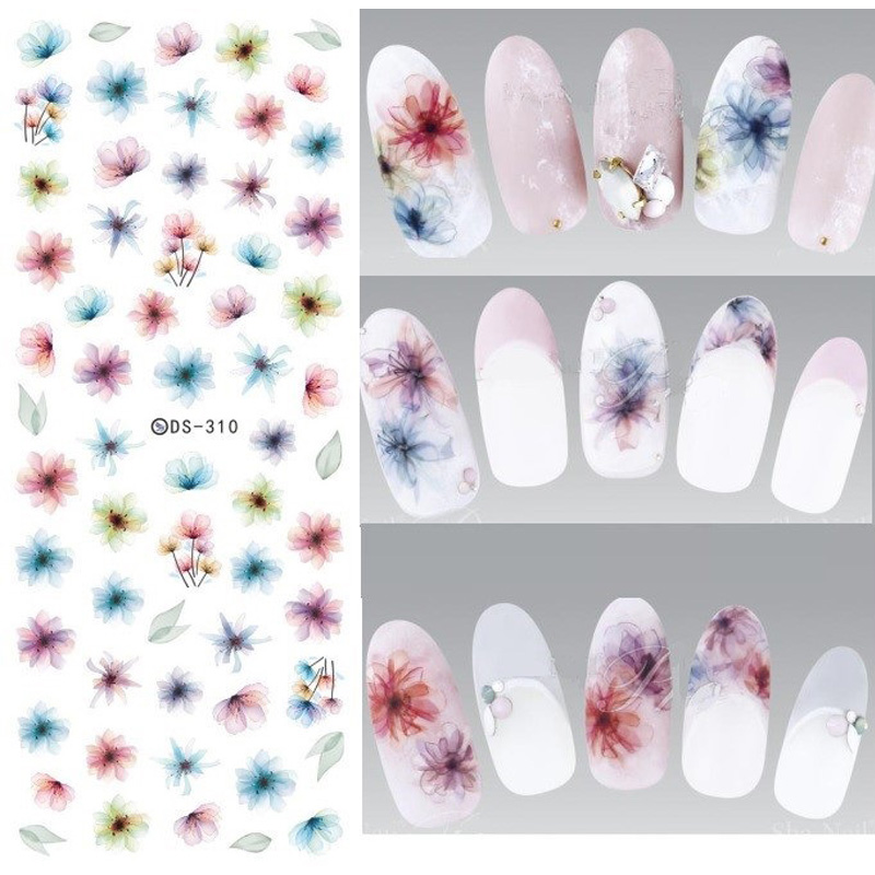 Nail sticker - flowers, and more