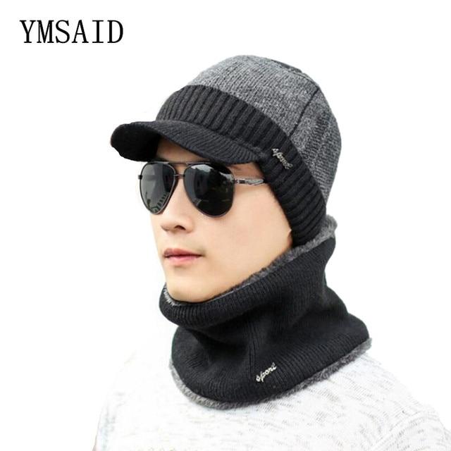 309503ba39a Ymsaid Winter Hats Skullies Beanies Hat Winter Beanies For Men Women Wool  Scarf Caps Balaclava Mask Gorras Bonnet Knitted Hat
