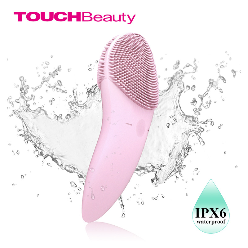 TOUCHBeauty Facial cleansing brush Sonic Vibration Face Cleaner Double sided Silicone Deep Pore Cleaning Face Massager
