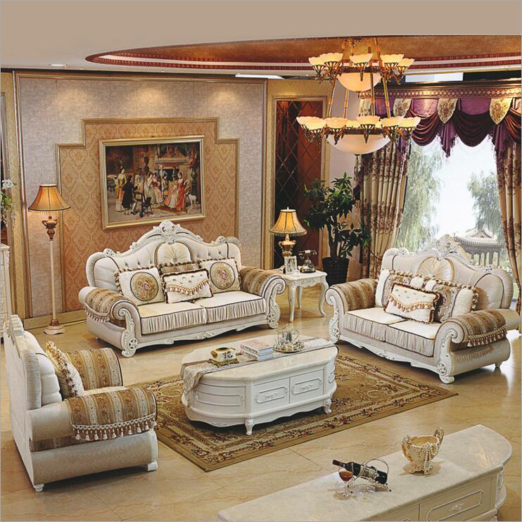 Living Room Furniture Modern Fabric Sofa European Sectional Sofa Set A1271