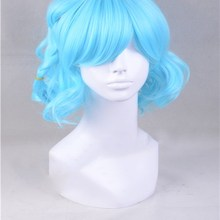 Japanese Anime Pripara Dorothy West Blue Short Wig Cosplay Hair Halloween