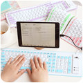 Standard Multi-color 103 Keys Foldable Silicone Keyboard USB Wired Flexible Soft Thin Waterproof Roll Up Keyboards For Laptop/PC