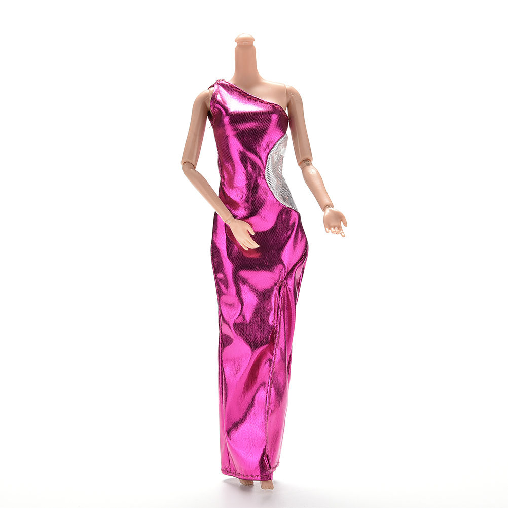 1PCS New Purple Dresses Handmake Wedding Dress Fashion Clothing Gown For Dolls Accessories