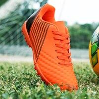 Neue top qualität gras nagelfußballschuhe erwachsene TF stollen fußball stiefel jungen kinder turnschuhe billig boote de futbol chuteira futsal