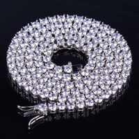 TOPGRILLZ 2.5mm-10mm glacé Bling AAA Zircon 1 rangée chaîne de Tennis collier hommes Hip hop bijoux or argent or Rose breloques