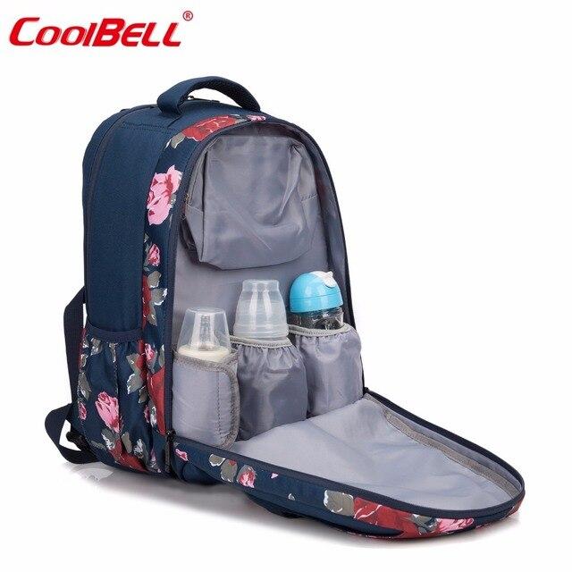 01216b2c0a8 CoolBell Luiertas Rugzak Kinderwagen Tas Voor Mama Grote Capaciteit  Stijlvolle Luiertas Met Aankleedkussen en Geïsoleerde Tas