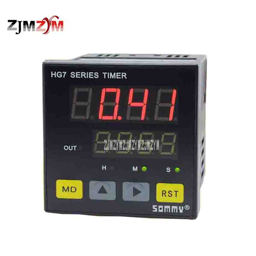 New Arrival Multifunction HG7-RB40 Time Relay AC220V 3A Double Row Four LED A Group of Relay Output Timing Time Relay Switch 2015 new arrival 12v 12volt 40a auto automotive relay socket 40 amp relay